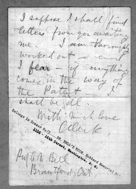 Letter from Alexander Graham Bell to Alexander Melville Bell, Eliza Symonds Bell, and Carrie Bell, February 18, 1875