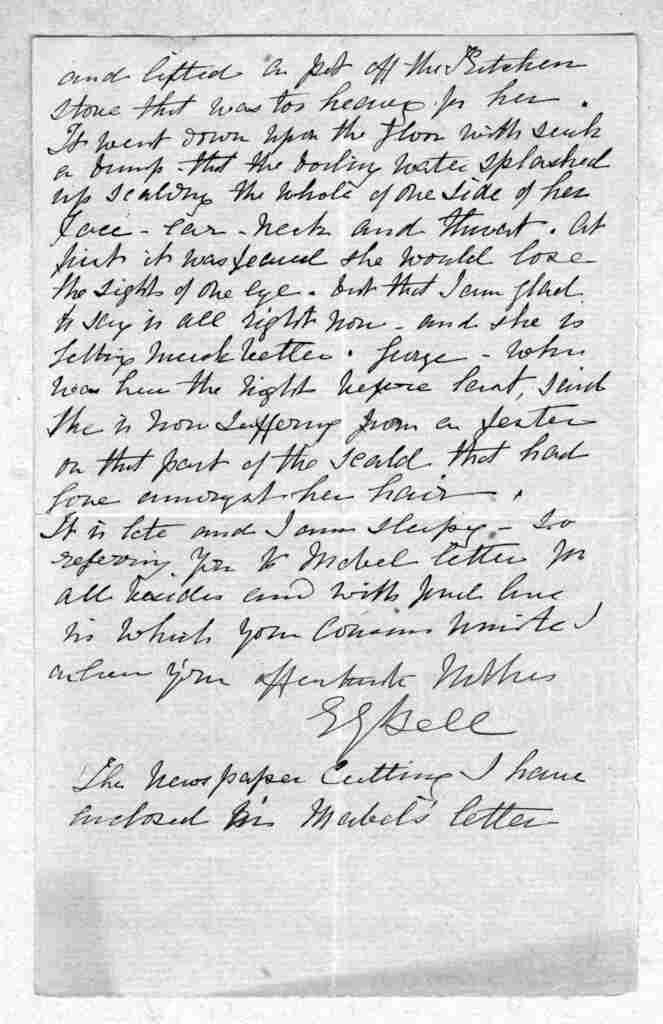 Letter from Eliza Symonds Bell to Alexander Graham Bell, 1875