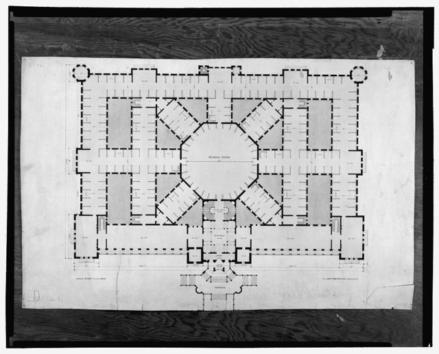 "[Library of Congress (""National Library""), Judiciary Square site, Washington, D.C. Plan, Gothic]"