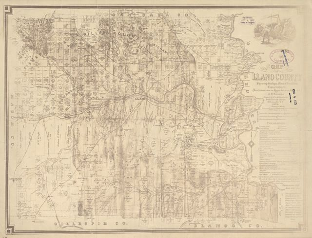 Map of Llano County : showing geology, mineral localities, topography, etc. /