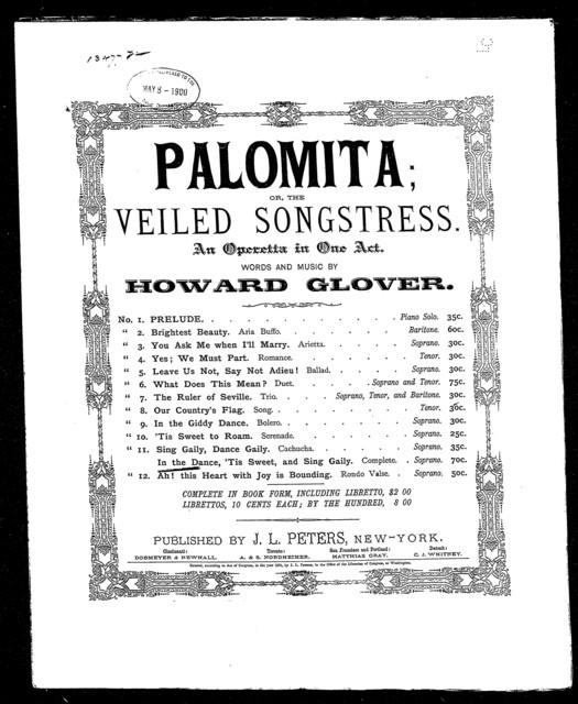 Palomita; or, The veiled songstressess