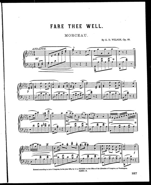 Peter's parlor music, no. 8