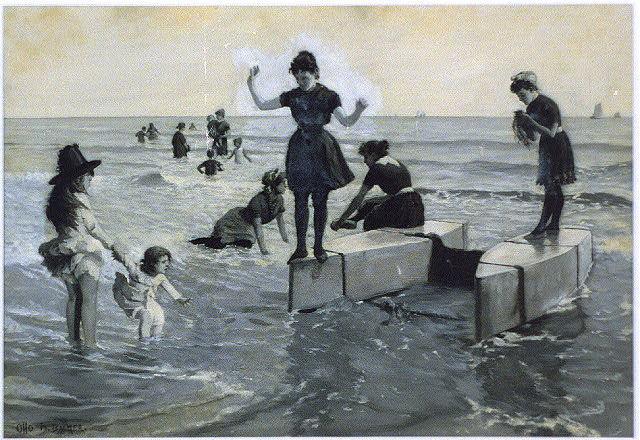 Seashore bathing
