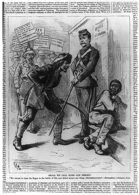 "Shall we call home our troops? ""We intend to beat the negro in the battle of life & defeat means one thing--EXTERMINATION"" - Birmingham (Alabama) News"
