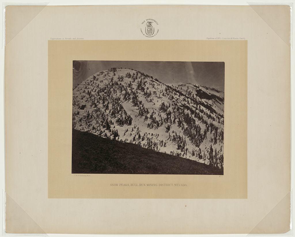 Snow peaks, Bull Run mining district, Nevada / T.H. O'Sullivan, phot.