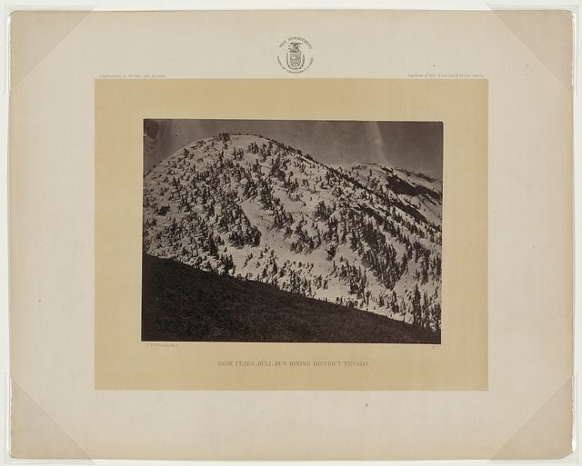 Snow peaks, Bull Run mining district, Nevada / T.H. O'Sullivan, phot.