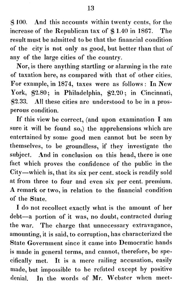 Speech delivered by Hon. Reverdy Johnson, as president of the democratic conservative mass meeting, held in Baltimore, Sept. 15th, 1875.