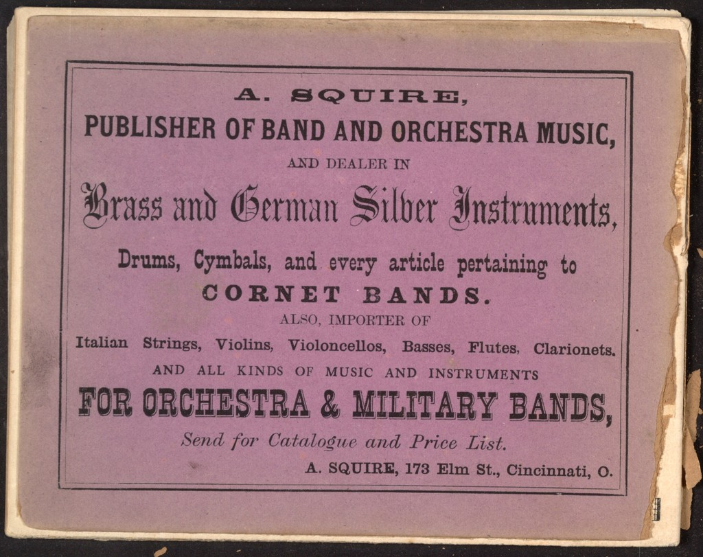 Squire's Cornet Band Olio No. 3