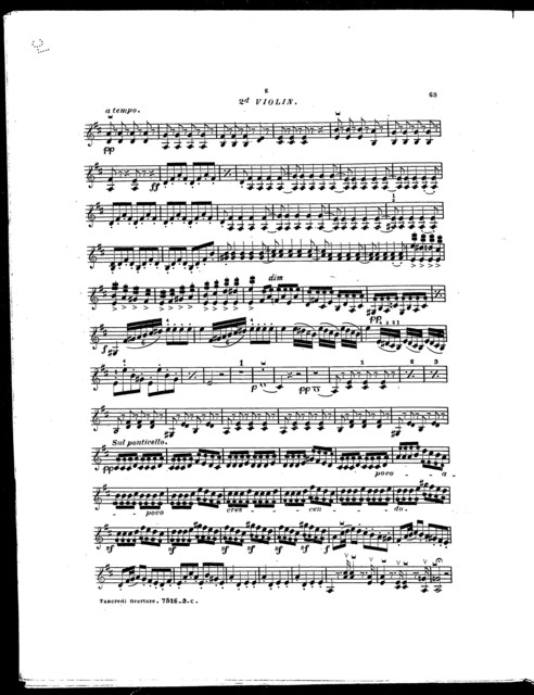 Tancredi overture