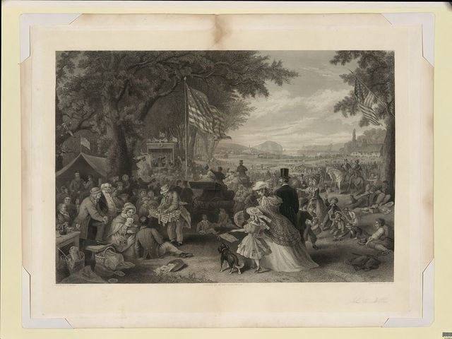 "[""The day we celebrate"" 1876] / painted by F.A. Chapman ; engraved by John C. McRae, N.Y."