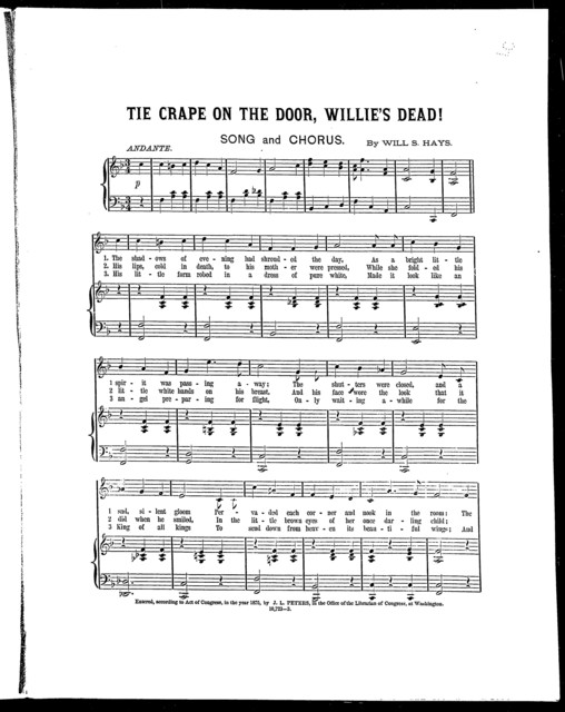 Tie crape on the door, Willie's dead!