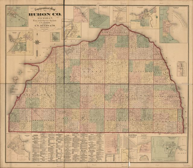 Topographic map of Huron Co., Michigan /