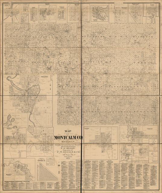 Lakeview Michigan Map.Topographic Map Of Montcalm Co Michigan Picryl