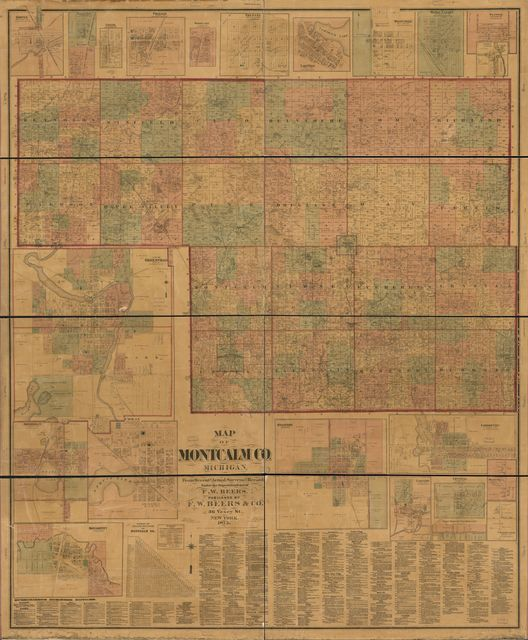 Topographic map of Montcalm Co., Michigan /