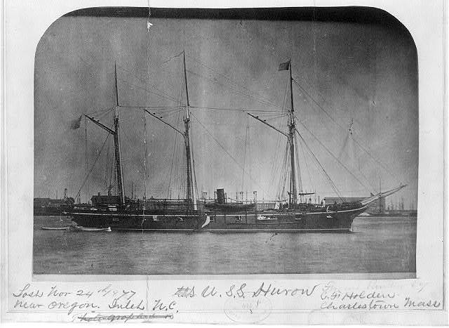 U. S. S. Huron, which was lost Nov. 24, 1877 near Oregon Inlet, North Carolina