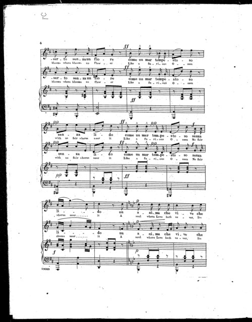 Un cor privo dei palpiti d'amore - A heart which is bereft
