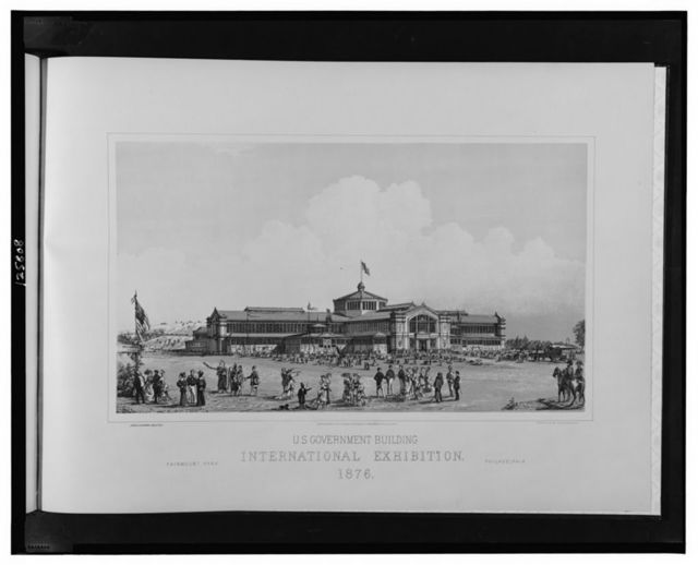 U.S. Government Building, International Exhibition, 1876--Fairmont Park, Philadelphia / James H. Windrim, architect; photo-lith. by Julius Bien, N.Y.