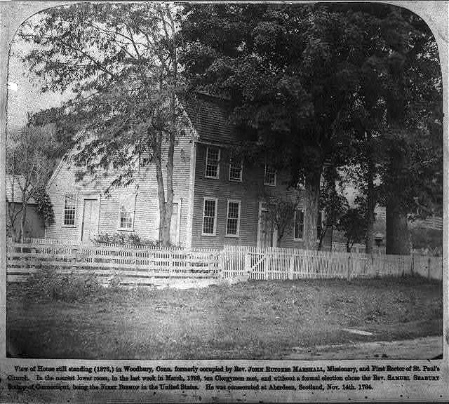View of house still standing (1876) in Woodbury, Conn. formery occupied by Rev. John Rutgers Marshall, Missionary, and First Rector of St. Paul's Church