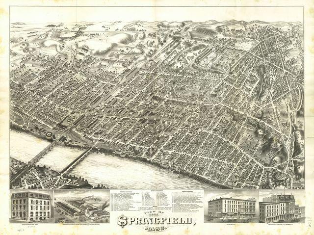 View of Springfield, Mass. 1875.