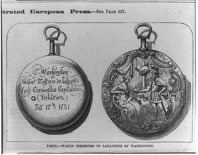 Watch presented to Lafayette by Washington