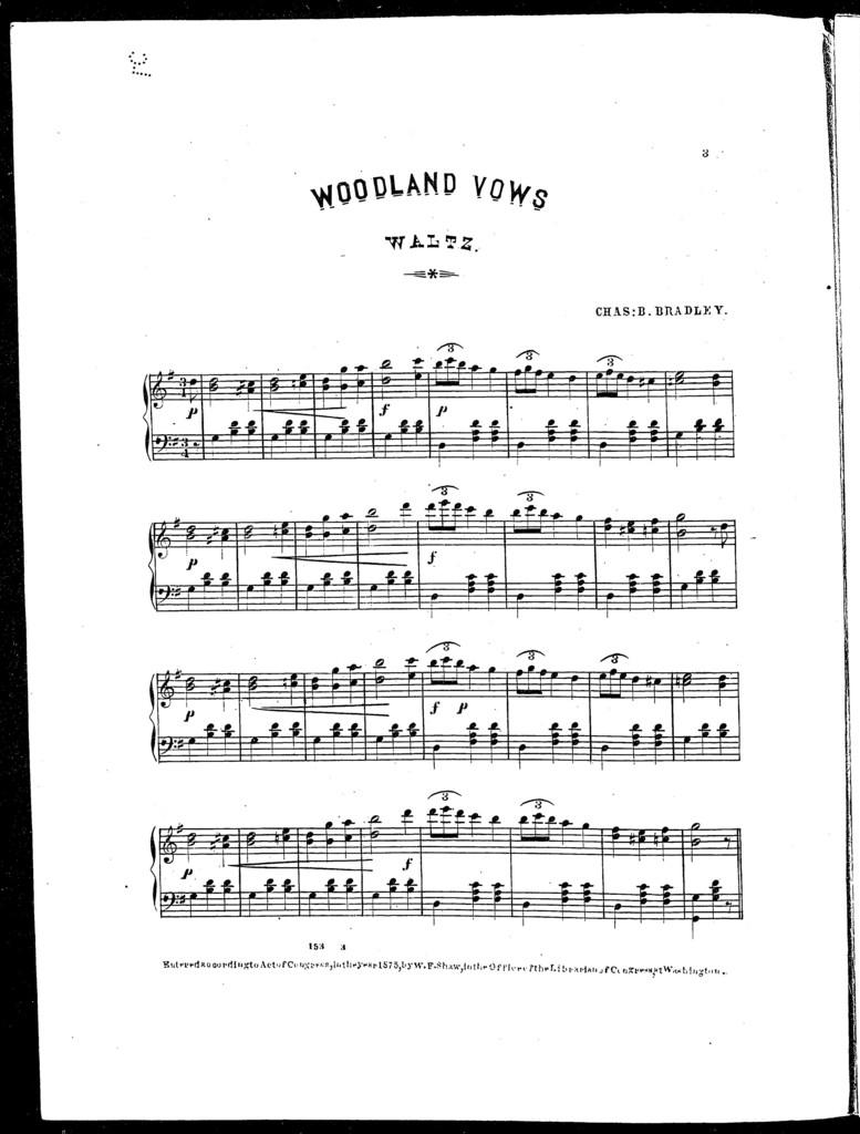Woodland vows waltz