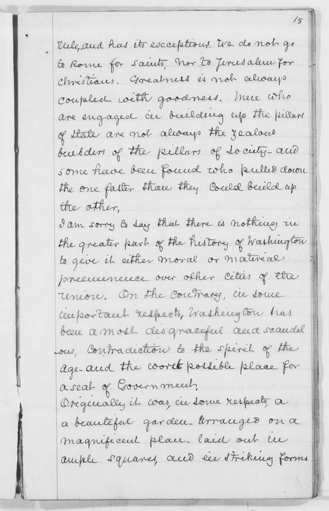 """A Lecture on Our National Capital,"" Baltimore, Md. - Folder 5 of 6"