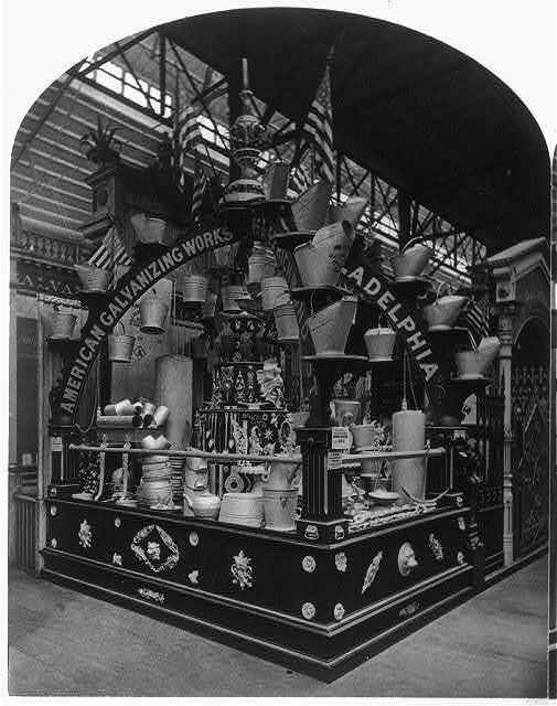 American Galvanizing Co.'s Exhibit, at the International Centennial Exhibition, Philadelphia, Pa., 1876