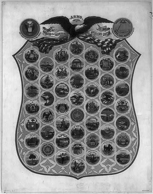 Arms of the states and territories of the American union
