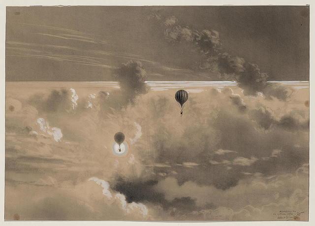 Ascension du 26 septembre 1876, 700 mètres / Albert Tissandier.