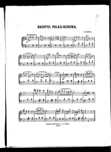Bashful polka-redowa