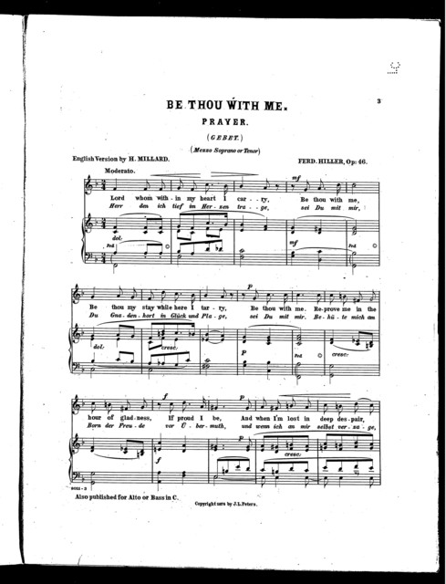 Be thou with me, mezzo soprano or tenor