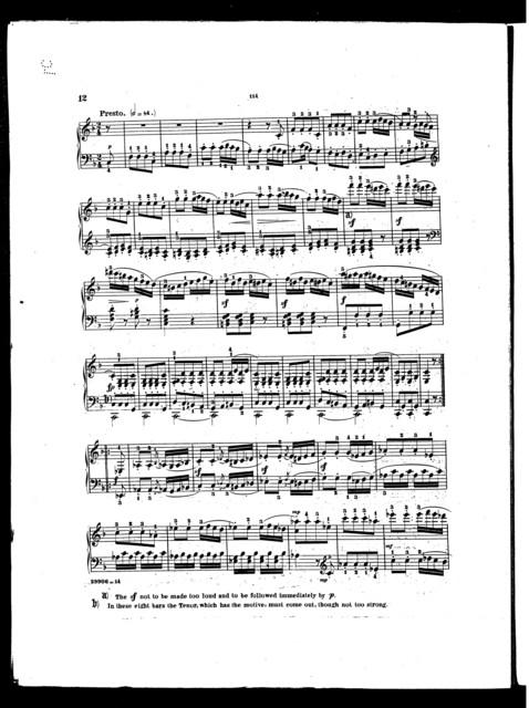 Beethoven's Sonatas, op. 10, no. 2