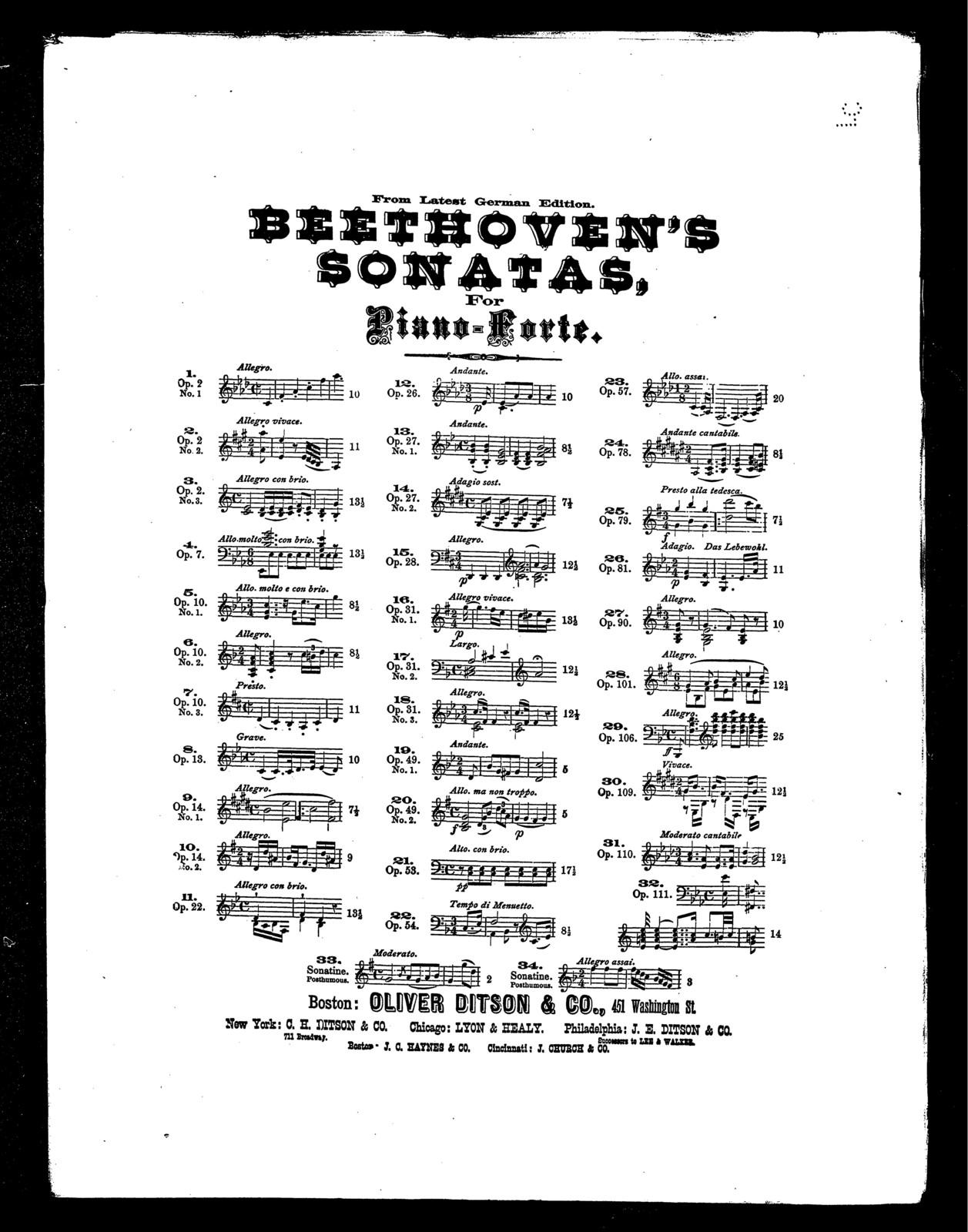 Beethoven's Sonatas, op. 79