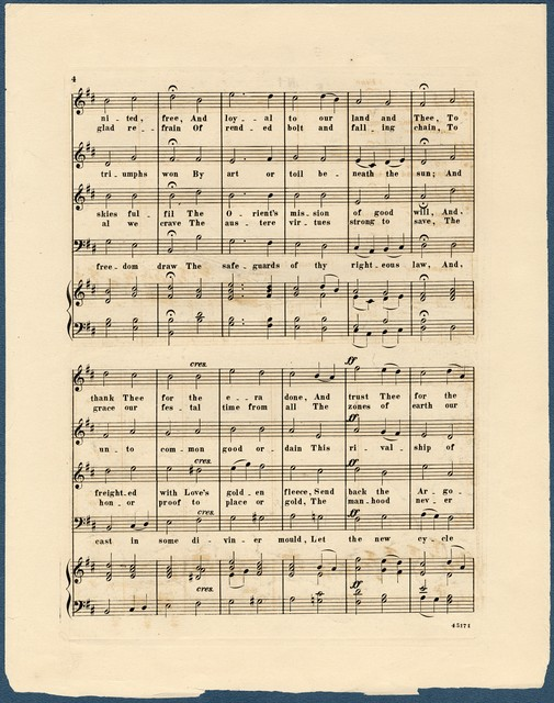 Centennial hymn as sung at the opening ceremonies at Philadelphia, May 10th, 1876