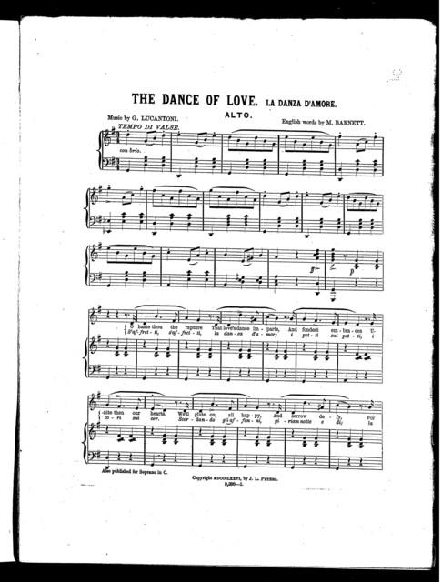 Dance of love, The - La danza d'amore