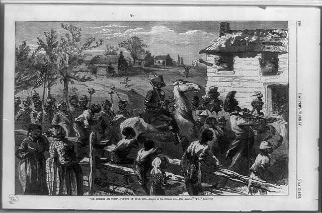 """De jubilee am come""--Fourth of July, 1876 / W.H. Redding, sc. ; drawn by Sol Eytinge, Jun."