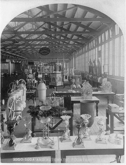 [Exhibit displays at Centennial Exhibition, Phila.: Soda water apparatus #2350]