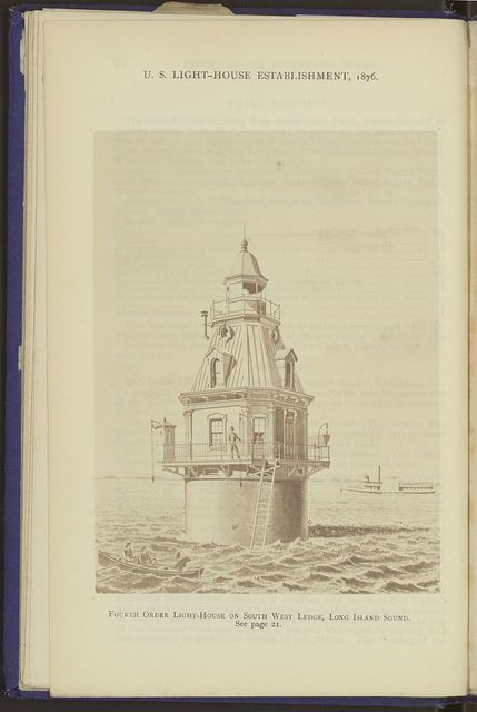 Fourth order light-house on south west ledge, Long Island Sound