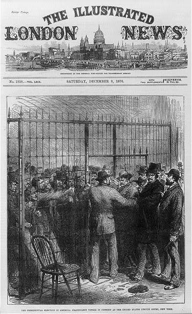 Fraudulent voters of the presidential election in custody at the United States Circuit Court, New York