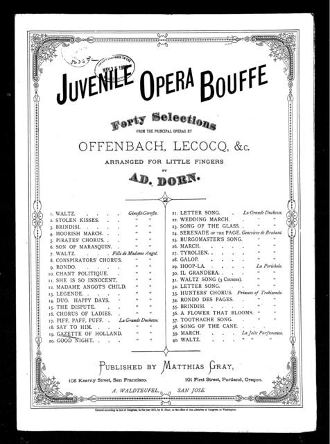 Gazette of Holland, La Grand duchesse