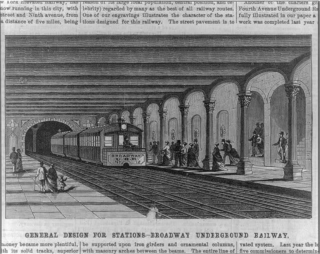 [General design for stations - Broadway Underground Railway]