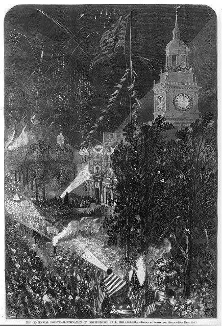 [Illumination of Independence Hall, Philadelphia, during the International Centennial, July 4, 1876]