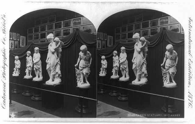 International Exhibition, 1876, Philadelphia, Pa. Park's statuary, Art Annex