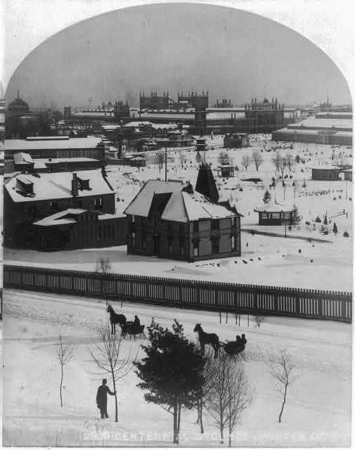 International Exhibition, Phila., Pa., 1876: Centennial Grounds (snow-covered)