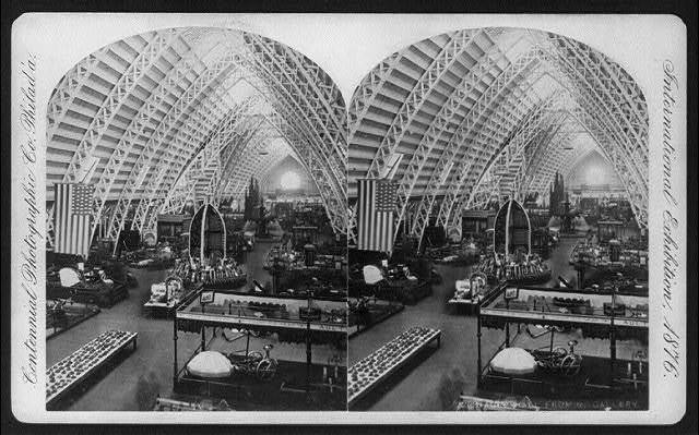 International Exhibition, Phila., Pa.: Agriculture Hall from North Gallery