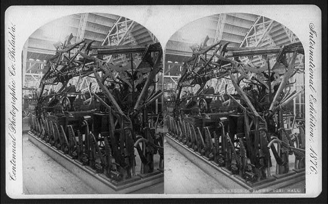 International Exhibition, Phila., Pa.: Arbor of Plows - Agriculture Hall