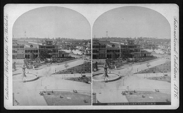 International Exhibition, Phila., Pa.:  Bird's Eye View from Main Building