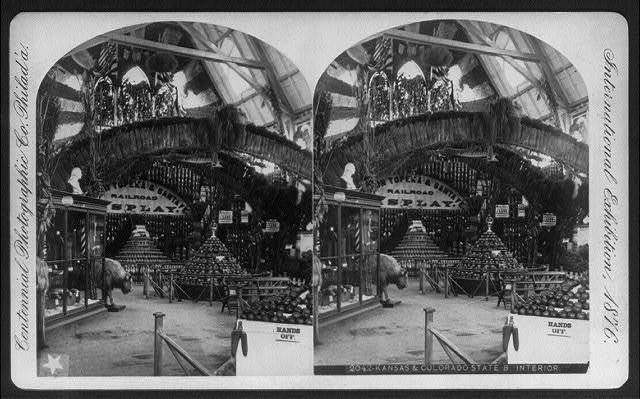 International Exhibition, Phila., Pa: Kansas & Colorado State Bldg. - interior