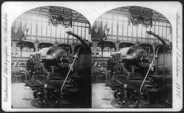 International Exhibition, Phila., Pa.: Krupp Exhibit from rear - Machinery Hall