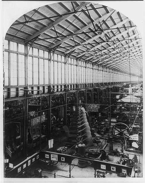 International Exhibition, Phila., Pa.: Machinery Hall from West Gallery